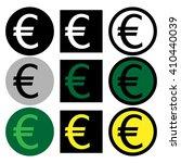 euro icon set vector symbol...