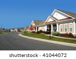 quiet neighborhood - stock photo