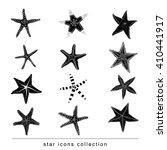 starfishes set .hand drawn... | Shutterstock .eps vector #410441917