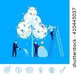 flat design vector illustration ... | Shutterstock .eps vector #410445037