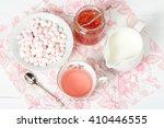 watermelon jam  herbal tea ...   Shutterstock . vector #410446555