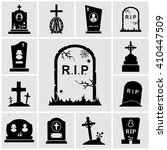 cemetery crosses and... | Shutterstock .eps vector #410447509