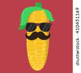 vector corn cartoon with... | Shutterstock .eps vector #410451169
