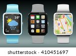 smart watches with app icons ...
