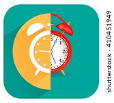 alarm clock icon with realistic ... | Shutterstock .eps vector #410451949
