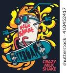 cool milkshake skater vector... | Shutterstock .eps vector #410452417