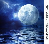 full moon. a huge moon... | Shutterstock . vector #410452687