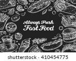 fast food. vector design... | Shutterstock .eps vector #410454775