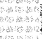 Seamless Pattern With Outline...