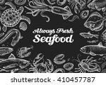 seafood. template design menu... | Shutterstock .eps vector #410457787