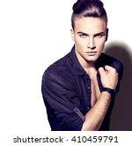 high fashion sexy model man... | Shutterstock . vector #410459791