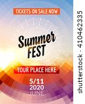 summer festival flyer design... | Shutterstock .eps vector #410462335