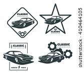 set of classic muscle car icons.... | Shutterstock .eps vector #410464105
