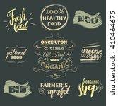 set of eco organic  food... | Shutterstock .eps vector #410464675