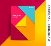 geometric cover design. a4... | Shutterstock .eps vector #410465839