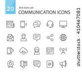 communication icons. | Shutterstock .eps vector #410467081