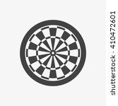 dart board icon in trendy flat...