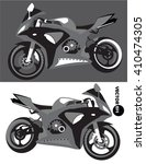 motorcycle  sports body kit ... | Shutterstock .eps vector #410474305