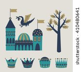 set of fairy tale graphic... | Shutterstock .eps vector #410480641