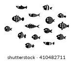 fish silhouette vector... | Shutterstock .eps vector #410482711