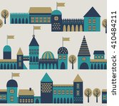 seamless pattern with medieval... | Shutterstock .eps vector #410484211