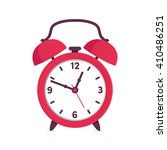 red alarm clock | Shutterstock .eps vector #410486251