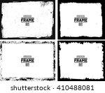 grunge frame texture set  ... | Shutterstock .eps vector #410488081