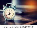 Little Clock On Table   Vintage