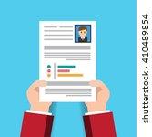 cv resume employee recruitment... | Shutterstock .eps vector #410489854