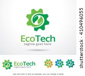eco tech logo template design... | Shutterstock .eps vector #410496055
