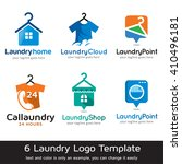 laundry logo template design... | Shutterstock .eps vector #410496181
