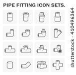 vector icon of pipe fitting or... | Shutterstock .eps vector #410496364