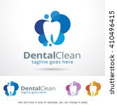 dental clean logo template... | Shutterstock .eps vector #410496415
