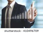 businessman with financial... | Shutterstock . vector #410496709