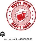 happy hour grunge stamp.vector   Shutterstock .eps vector #410503831