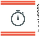 stopwatch vector icon | Shutterstock .eps vector #410507074
