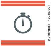 stopwatch vector icon   Shutterstock .eps vector #410507074