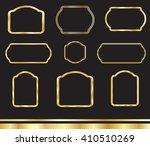 frame. gold frame. vintage... | Shutterstock .eps vector #410510269