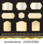 vintage gold frames and borders ... | Shutterstock .eps vector #410510284