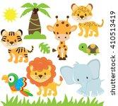 jungle animal vector... | Shutterstock .eps vector #410513419
