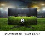 watching smart tv translation...   Shutterstock . vector #410515714