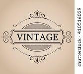 vector victorian frame for label | Shutterstock .eps vector #410516029