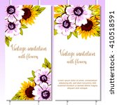 invitation with floral... | Shutterstock . vector #410518591