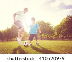 family father son playing... | Shutterstock . vector #410520979