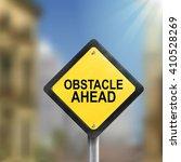 3d illustration yellow roadsign ... | Shutterstock .eps vector #410528269