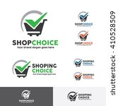 shop choice logo template with... | Shutterstock .eps vector #410528509