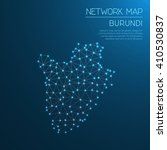 burundi network map. abstract... | Shutterstock .eps vector #410530837