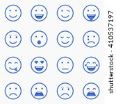 set of emoticons  emoji and... | Shutterstock .eps vector #410537197