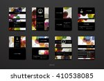 set of business card template... | Shutterstock .eps vector #410538085