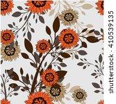 seamless vector floral pattern. ... | Shutterstock .eps vector #410539135